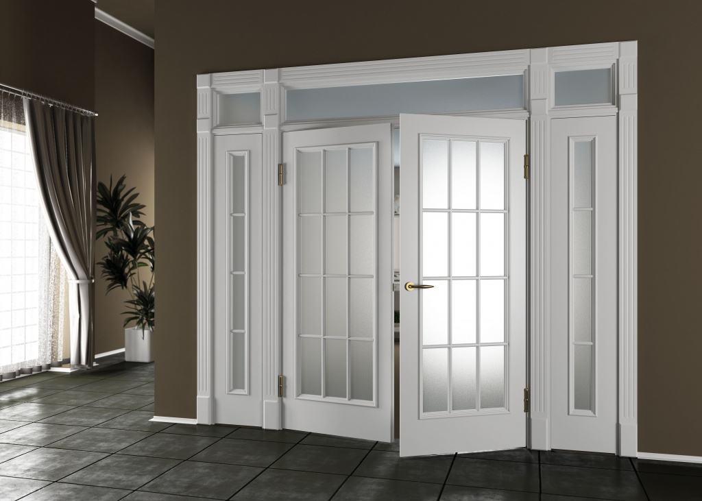 белая современная дверь